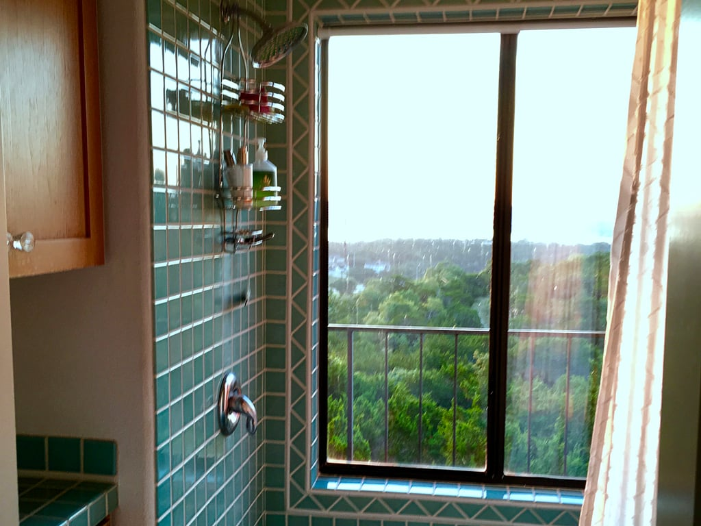 White Cloud Suite bathroom with a view.